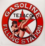 Pin up Sticker / TEXACO GASOLINE FILLING STATION