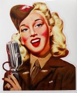 Pin up Sticker / Army Pinup Sängerin