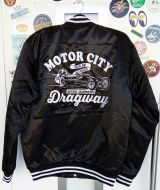 College Satin Jacket - Dragway / schwarz