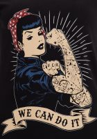 T-Shirt von Queen Kerosin  / We can do it
