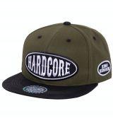 Snapback / Flat Cap von King Kerosin - Hardcore / grün - schwarz