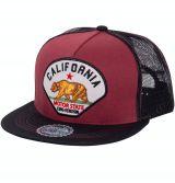 Snapback / Flat Cap von King Kerosin - California / rot-schwarz