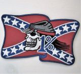 Patch - Südstaaaten Rebel Skull