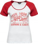 Queen Kerosin Girls Raglan T-Shirt - SPEED SHOP / HOT QUEEN