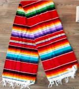 Mexican Blanket Serapes - Red / blue / green / lila / yellow
