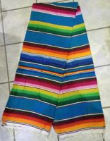 Mexikan Decke - Blau / Orange / Grün / Pink
