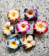 Haarclips mit Blume - Blume diverse Farben