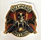 Vintage Sticker-Rock and Rider, Moteros / small