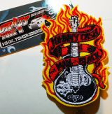 Patch - Johnny Cash the Man in Black, Guitar/Flames