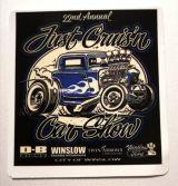 Vintage Sticker- Just Cruisn Car show / klein