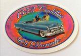 Vintage Sticker- 1953 Cadillac el dorado / klein