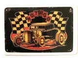 Vintage Sticker- Hot Rod plate / klein