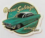 Vintage Sticker- Owens Salvage / klein