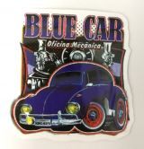 Vintage Sticker- Blue Car / klein