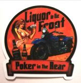 Pin up Sticker - Liquor in the Front / klein