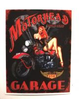 Pin up Sticker - Motorhead Garage / klein