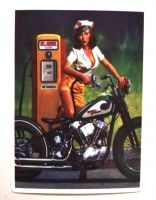 Pin up Sticker - Harley Davidson / klein