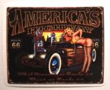 Pin up Sticker - America's Highway / klein