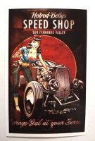 Pin up Sticker - Speed Shop / klein