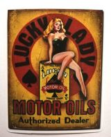 Pin up Sticker - Motor oils / klein