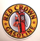 Pin up Sticker - Red Crown Gasoline / klein