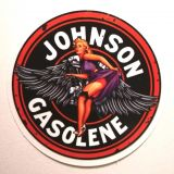 Pin up Sticker - Johnson Gasoline / klein