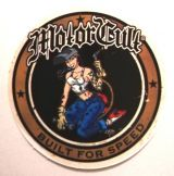 Pin up Sticker - Motorcult / klein