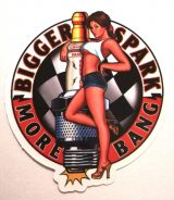 Pin up Sticker - Bigger Spark, More Bang / klein