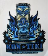 King Kerosin Sticker - Kon Tiki /klein