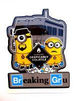 Sticker- Minions Breaking Gru / klein
