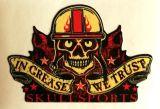 King Kerosin Sticker Skullsports in Grease we trust /small