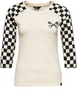 QUEEN KEROSIN 3/4 Sleeve Shirt - Speed Shop / Vintage White