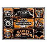 Magnet Set. - Harley Davidson - Wild at Heart