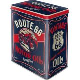 Steel Tin Boxes Large - Route 66 Motor Oil