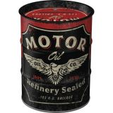 Oil Barrel Steel Money Box - Motor Oil