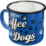Enameled Mug / Hot Coffee & Cool Dogs