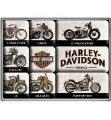 Magnet Set. - Harley Davidson / Model Chart