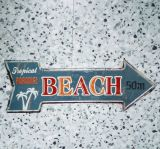 Retro Blechschild - BEACH / Tropical Paradise - 50m.