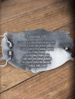 Rumble 59 Buckle - I Walk The Line
