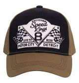 Trucker Cap Flex von King Kerosin - Speed King / schwarz-olive