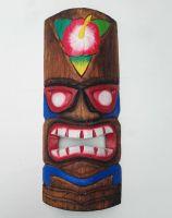 Tiki Holz Masken / Klein - Tiki Nr.4 / farbig