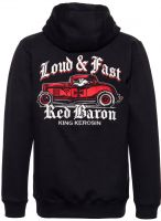 King Kerosin Bestickte Hoodie Jackets - Red Baron / Limited Edition