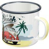 Emaille Tasse / VW Bulli - Beach