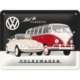 Blechschild klein - VW, Meet the Classics