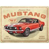 Vintage Steel Plate large - Ford Mustang GT 1967 Red
