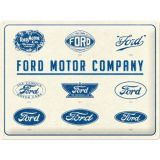 Blechschild Large - Ford Motor Company Logos