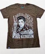 Batik Vintage Shirt - I hate the Disco / the King - Olive