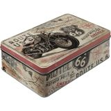 Steel Tin Boxes Flat - Route 66 / Bike Map