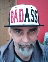 Snapback / Flat Cap from King Kerosin - Bad Ass 3D / White-black