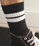 Socks - Black / White Stripes